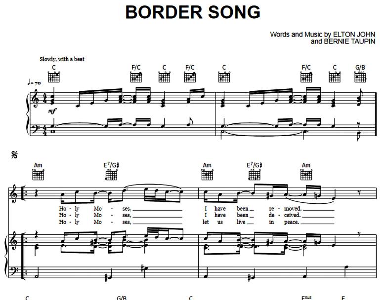 Elton John-Border Song