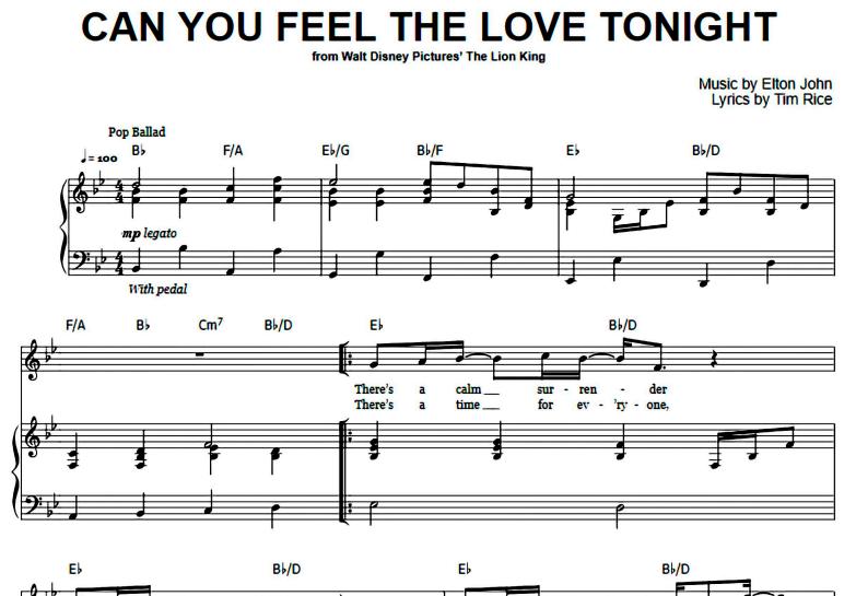 Elton John-Can You Feel The Love Tonight