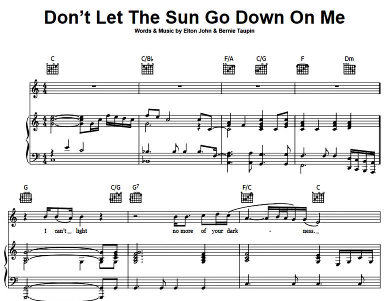 Elton John-Don't Let The Sun Go Down On Me