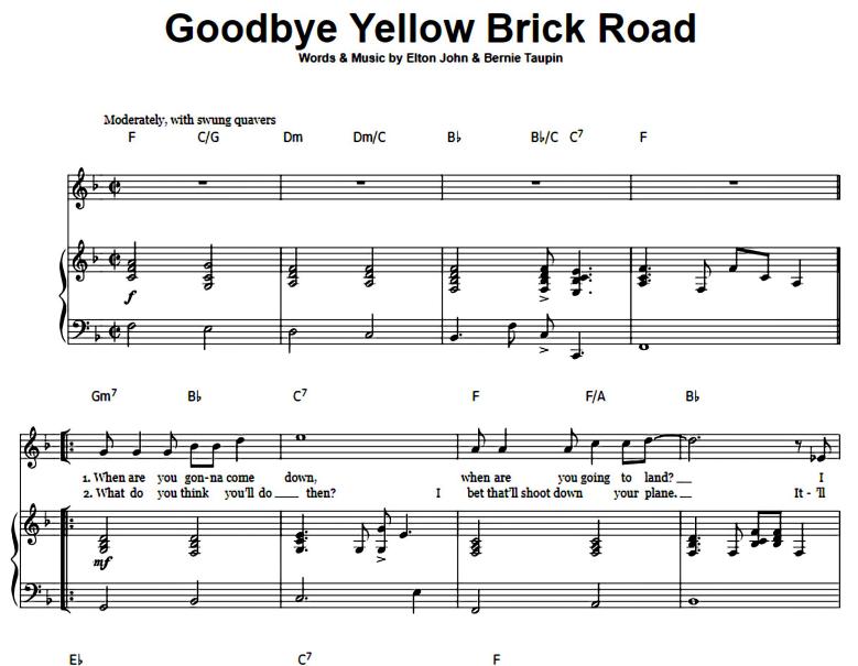 Elton John-Goodbye Yellow Brick Road