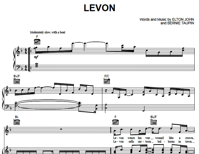 Elton John-Levon