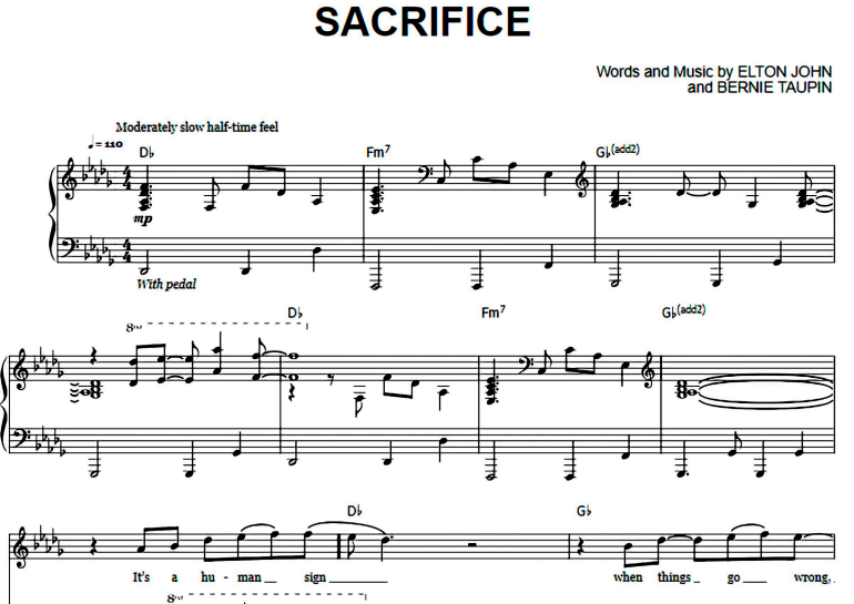 Elton John-Sacrifice