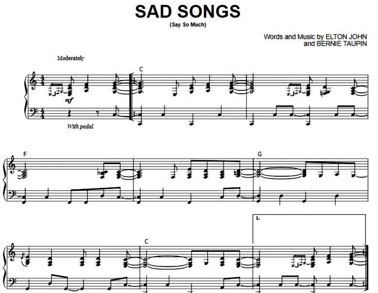 Elton John-Sad Songs