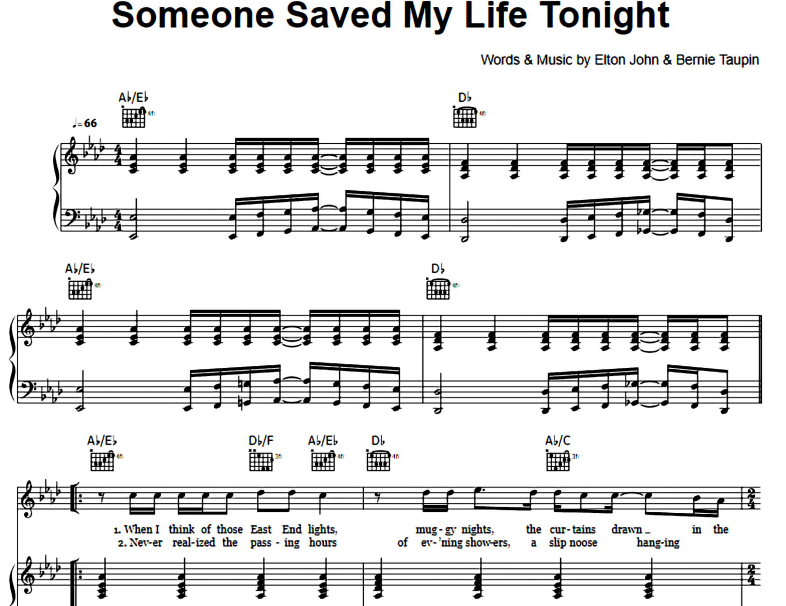 Elton John-Someone Saved My Life Tonight