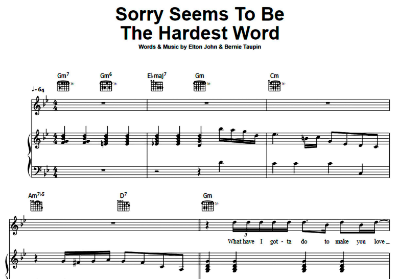 Elton John-Sorry Seems To Be The Hardest Word