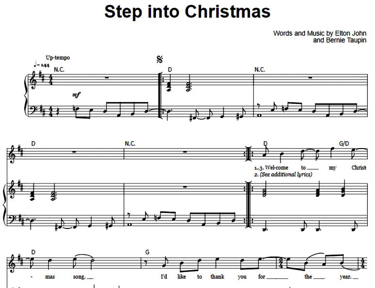 Elton John-Step Into Christmas