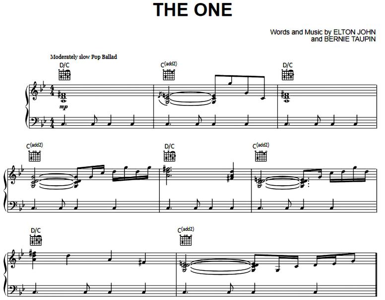 Elton John-The One