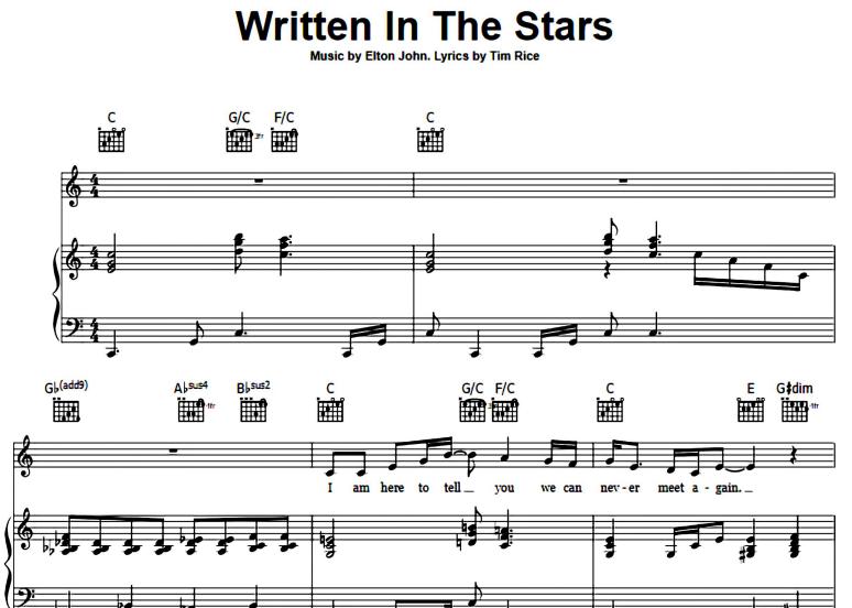 Elton John-Written In The Stars
