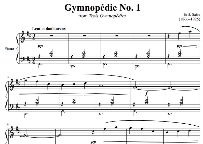 Erik Satie-Gymnopedie No1