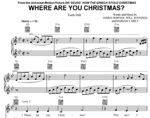 Faith Hill-Where Are You Christmas