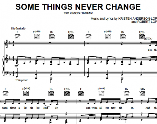 Frozen-Some Things Never Change