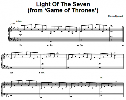 Game Of Thrones-Light Of The Seven