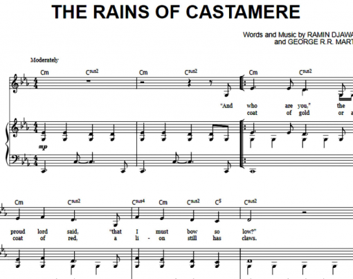 Game Of Thrones-The Rains Of Castamere