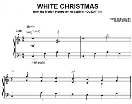 Irving Berlin-White Christmas Easy